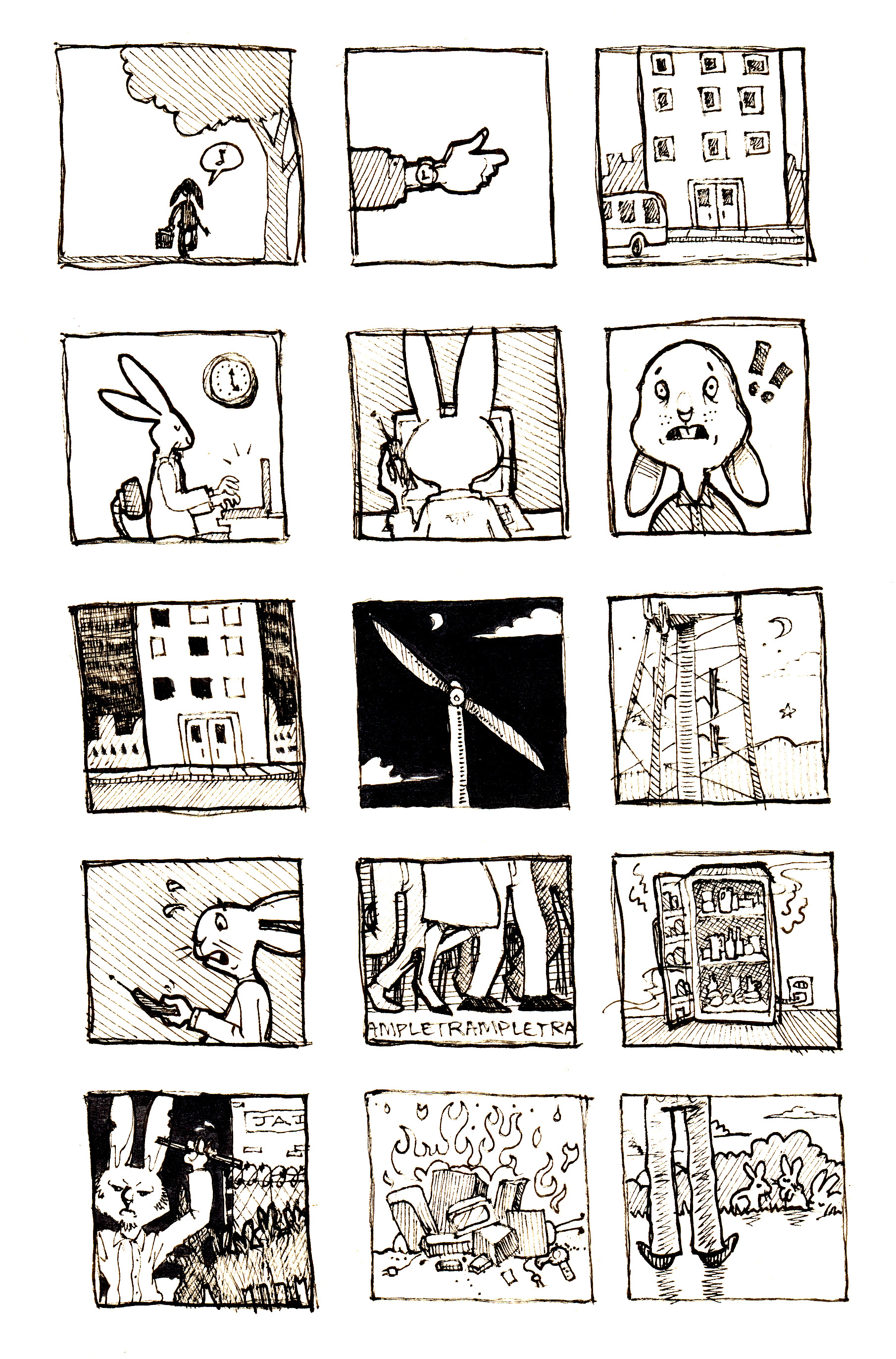 storyboard in thesis This is my storyboard for my thesis at lmu it is called couleur and it is about a  curious little dog that finds glasses which allow him to see and spread color.